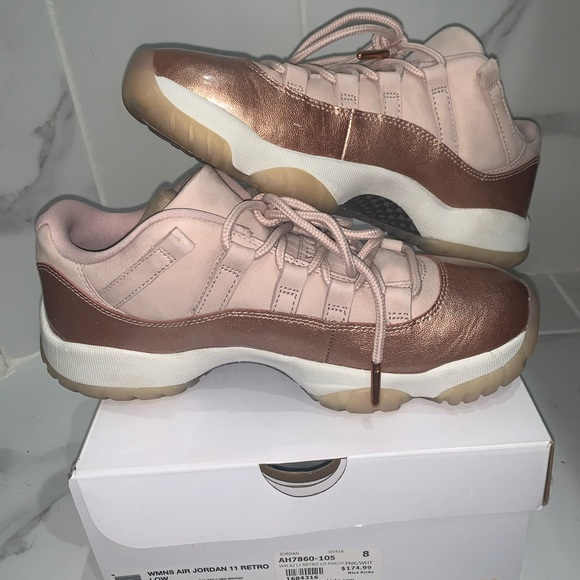 Jordan Shoes - AIR JORDAN 11 Retro 'Rose Gold' Women's Size 8